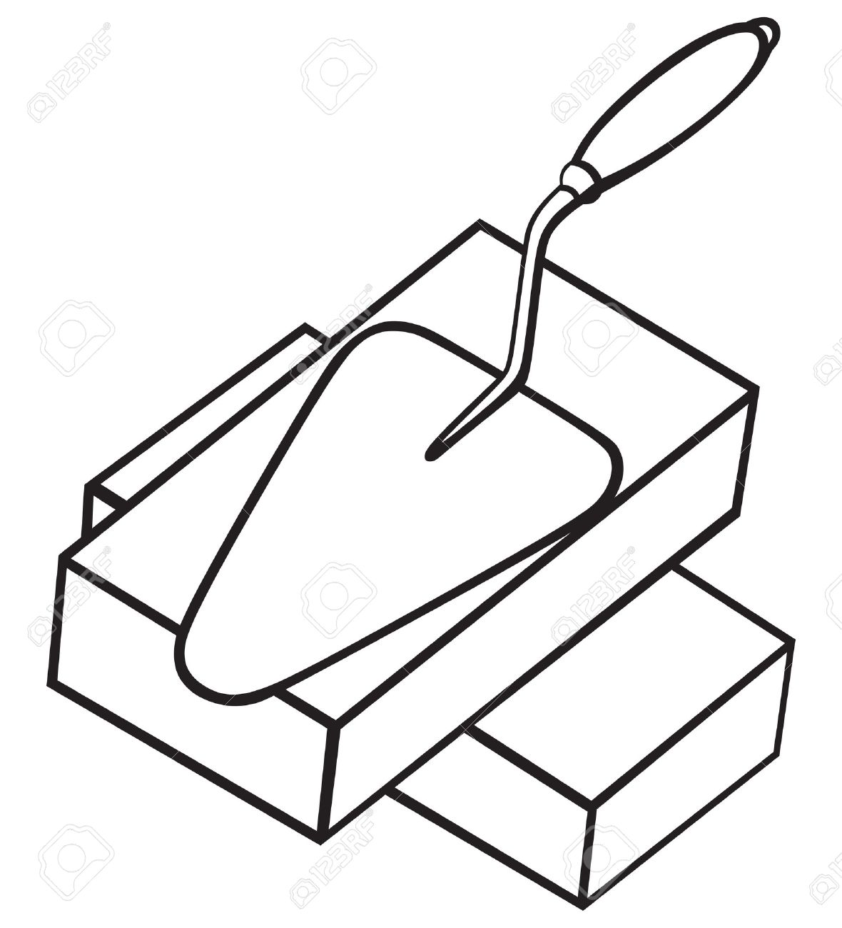 Symbol Brick And Trowel Royalty Free Cliparts, Vectors, And Stock ...