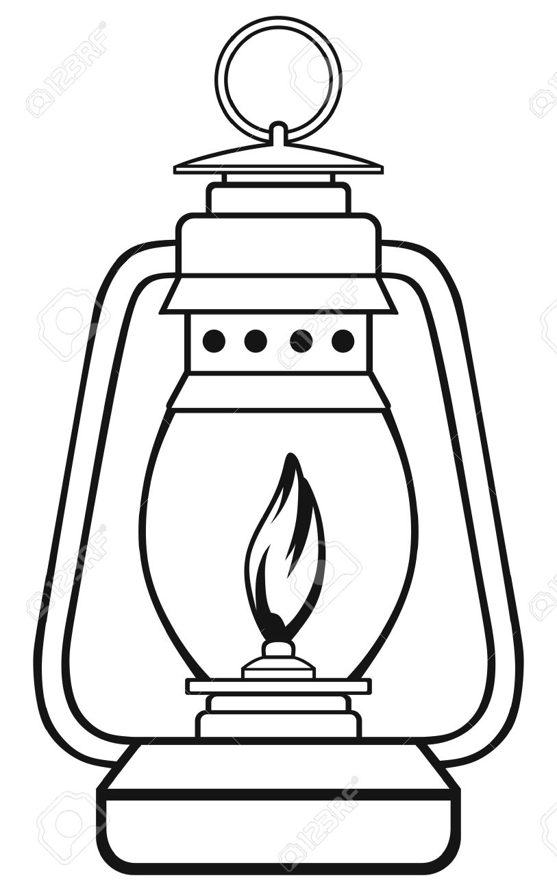 Symbol Old Dusty Oil Lamp Ilustraciones Vectoriales, Clip Art ... for Oil Lamp Clip Art  113cpg