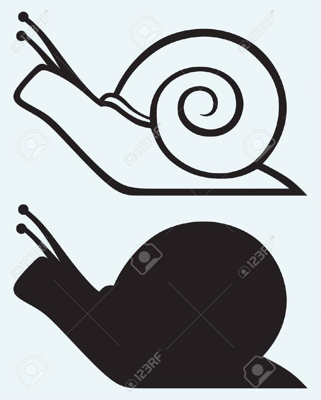 snail isolated on blue background royalty free cliparts vectors
