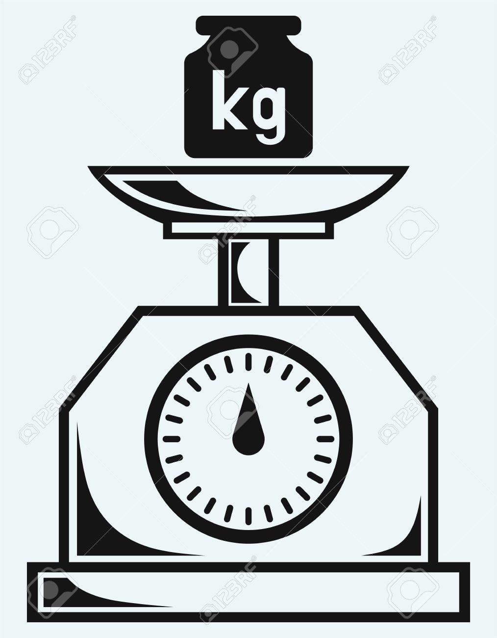体重計と重量キログラムのイラス...