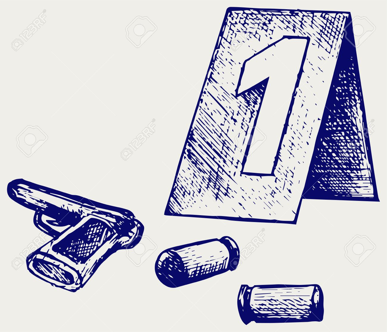 Forensic Science Place Of Shooting Doodle Style Royalty Free Cliparts Vectors And Stock Illustration Image 37002398