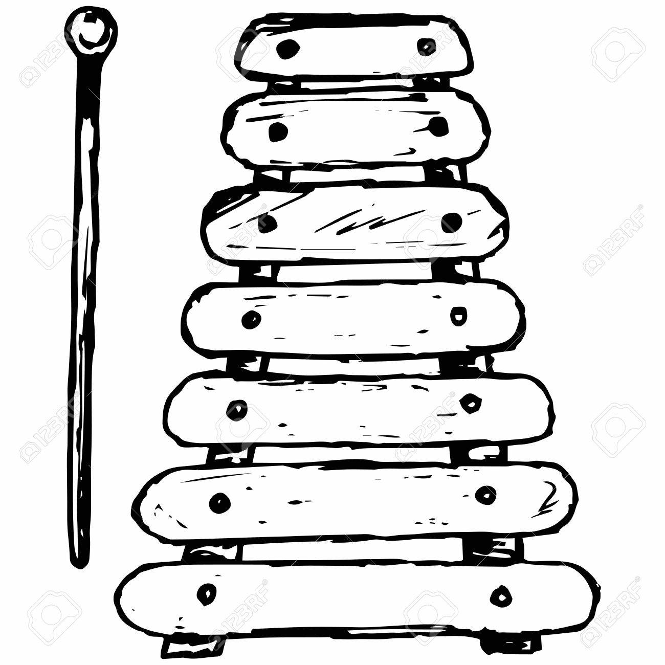 Estilo De Dibujo Instrumento Musical Del Xilófono