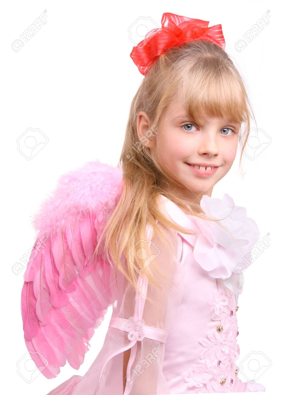 The girl in costume of angel. Stock Photo - 3929561