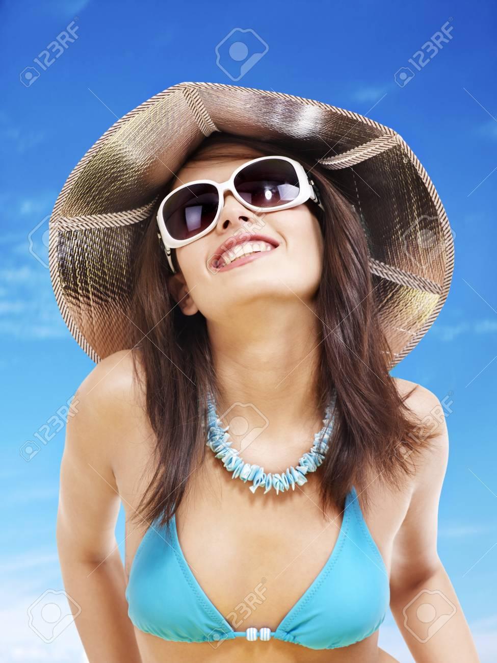 Y La Bikini Chica De En PlayaVacaciones Gafas Sol TOXZiPku