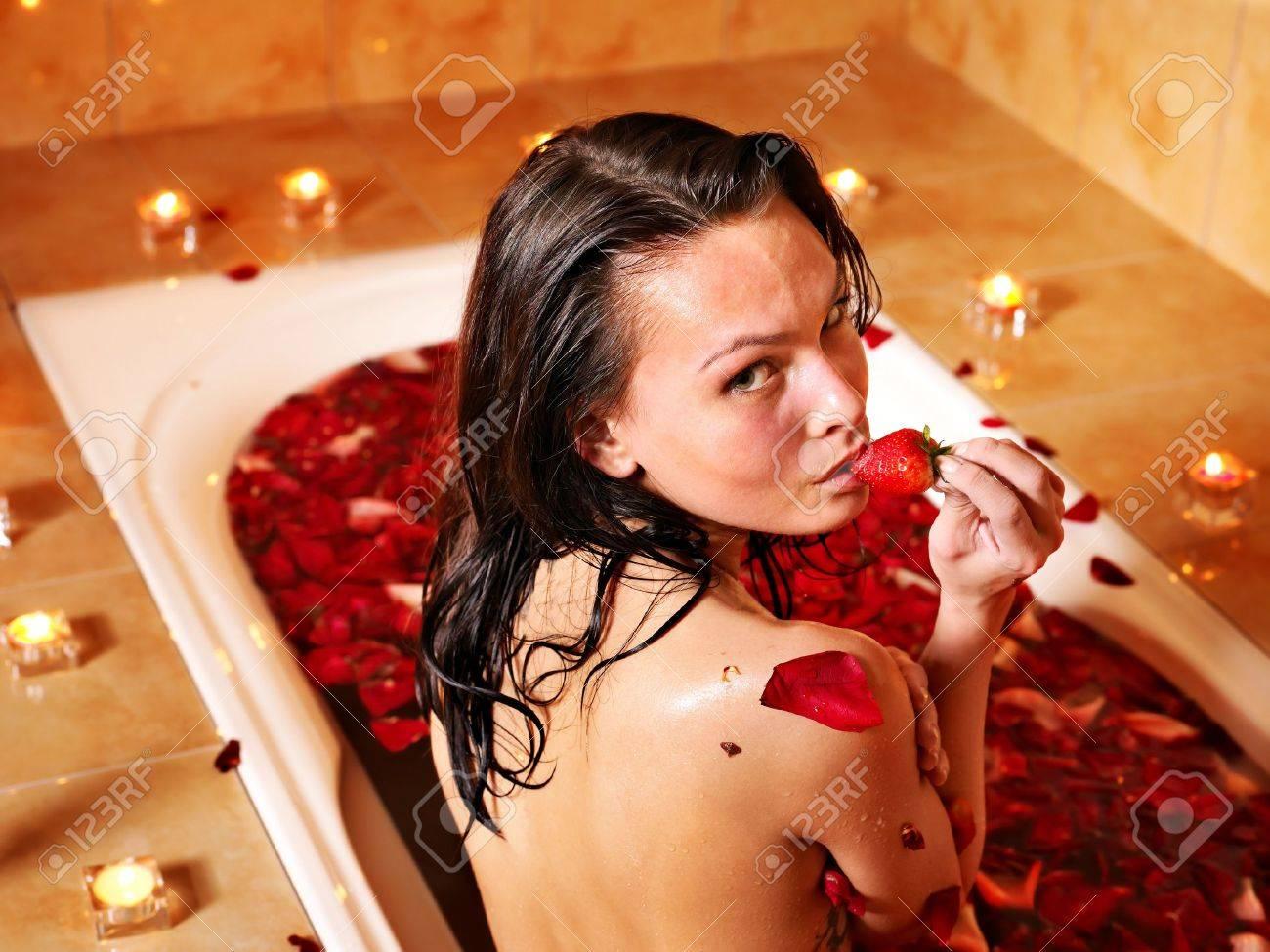 Woman swimming of bath tub. Stock Photo - 9620151