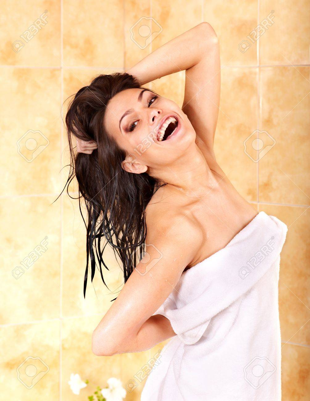Young woman take bubble  bath. Stock Photo - 9780290