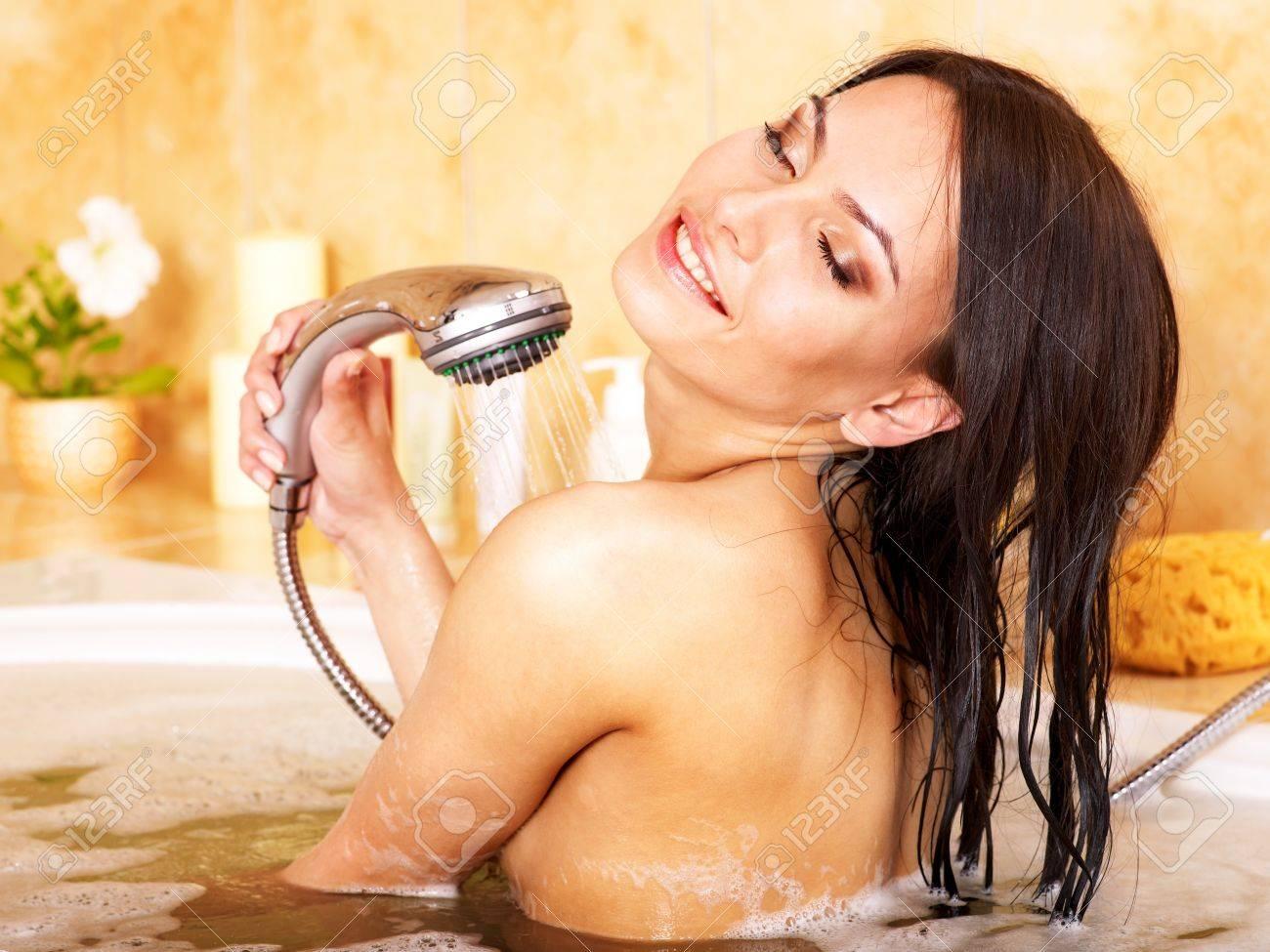 Young woman take bubble  bath. Stock Photo - 9899439