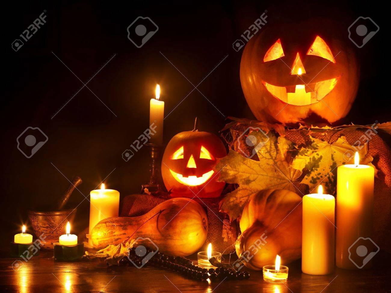 Halloween pumpkin lantern. Decoration. Stock Photo - 10778697
