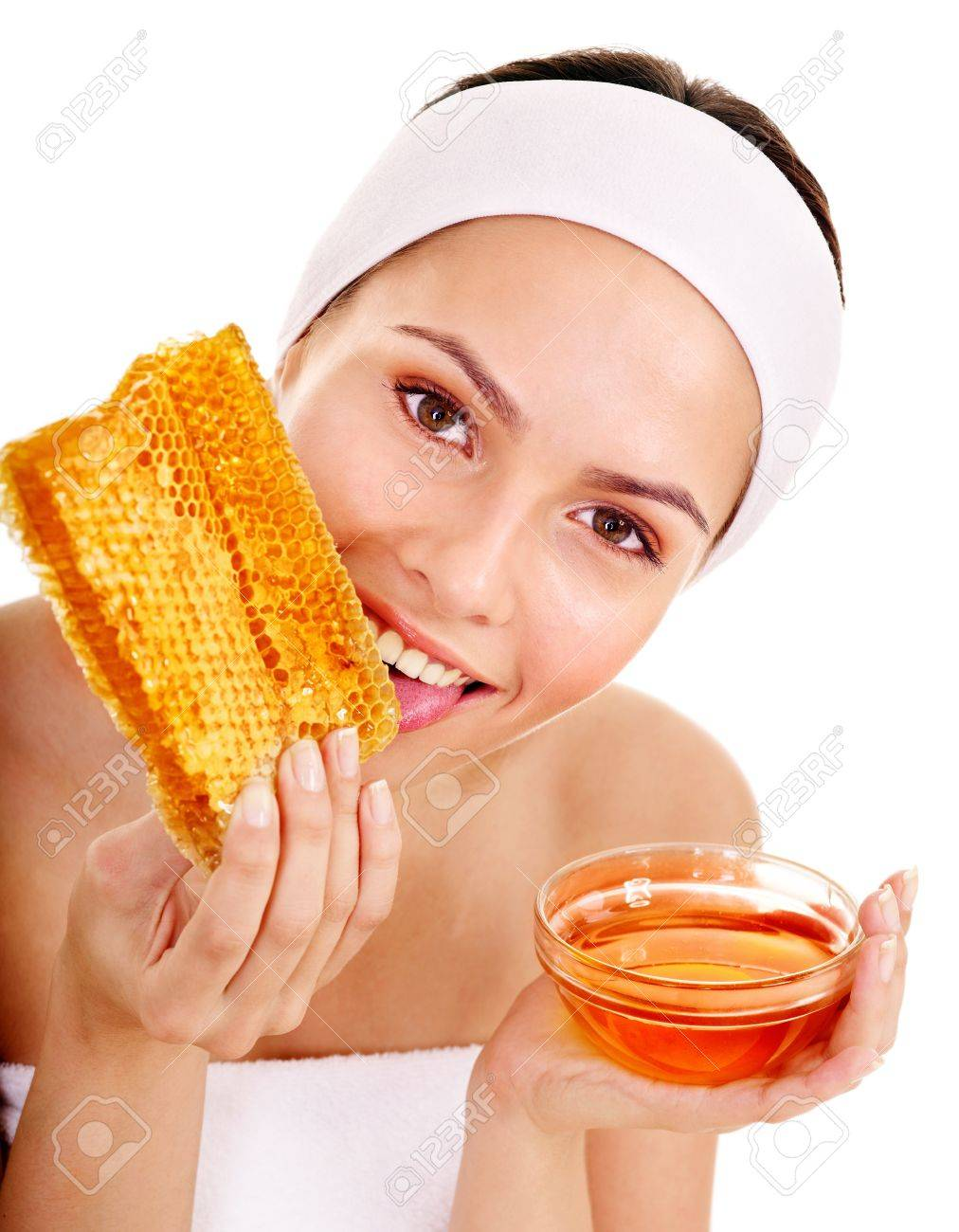 Natural homemade organic  facial masks of honey. Isolated. Stock Photo - 10853017