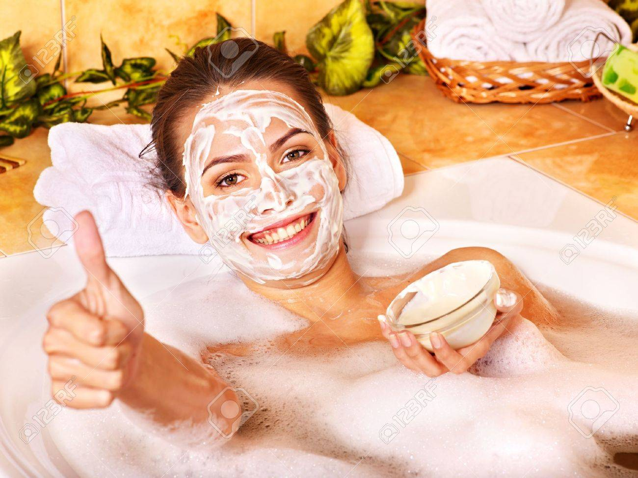 Natural homemade  facial masks at home . Stock Photo - 11216902