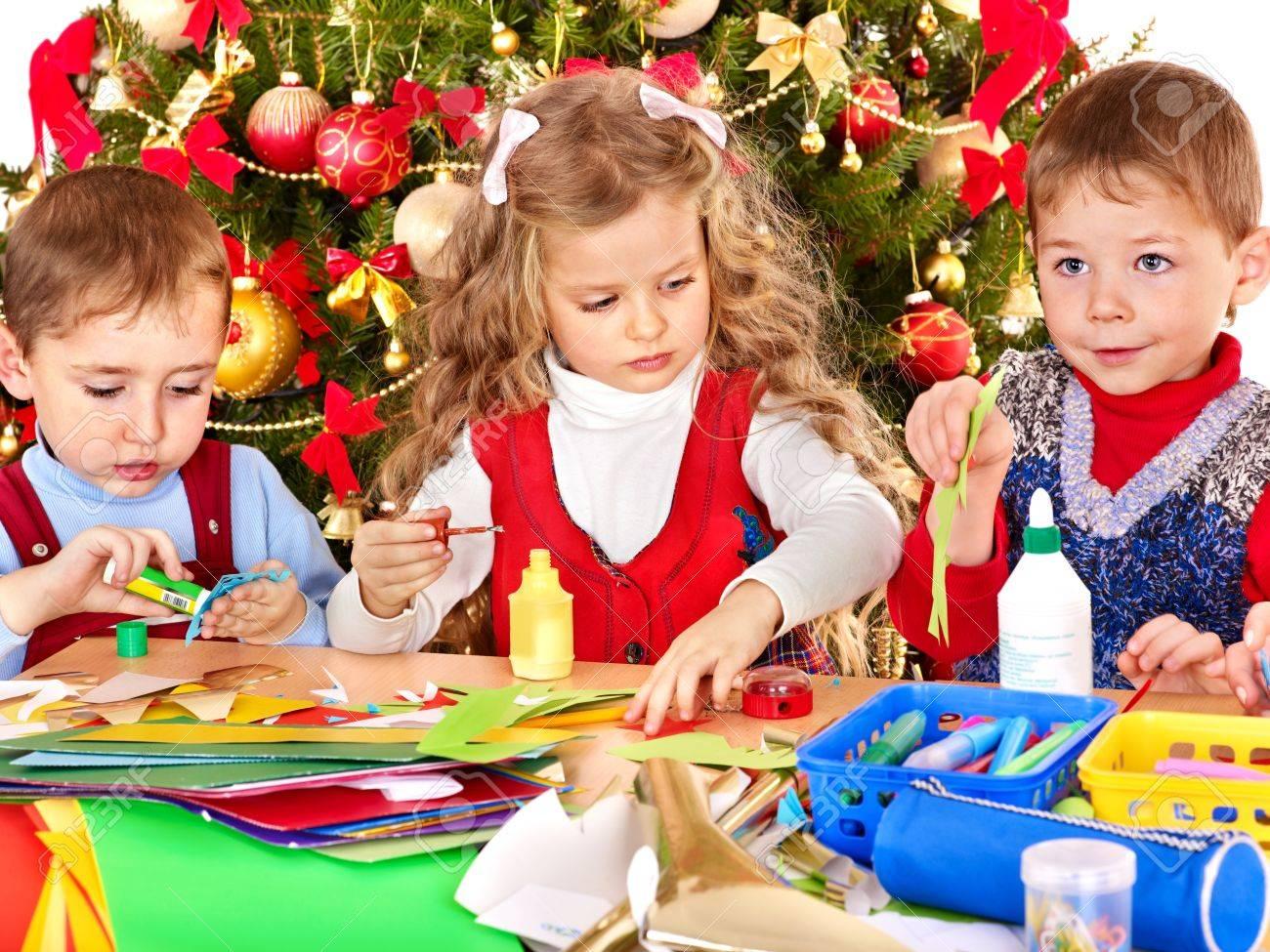 Kindergarten Weihnachten.Stock Photo