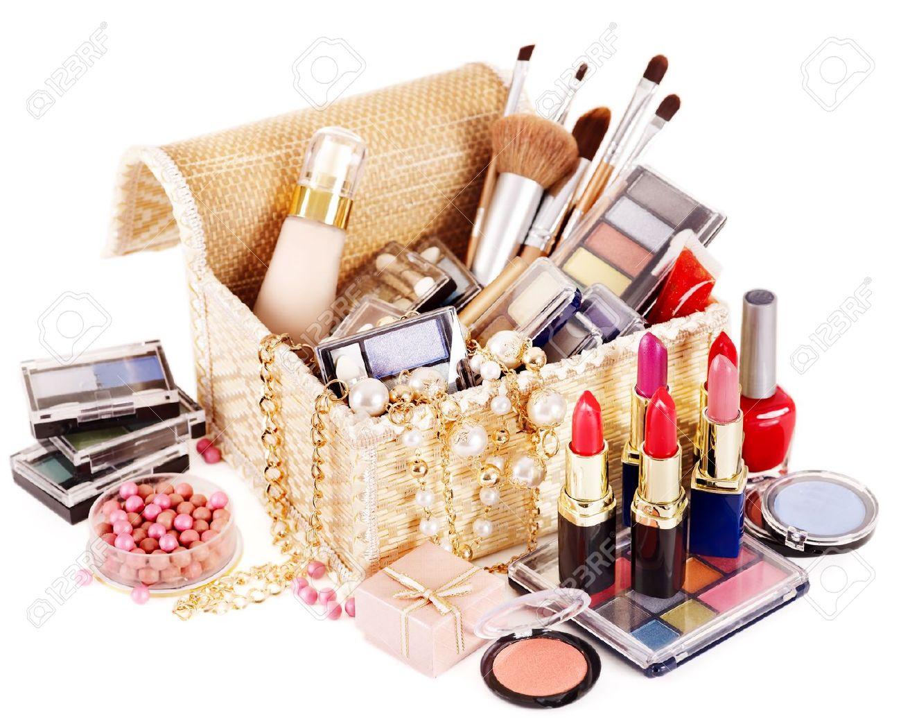 Decorative cosmetics in makeup box. Stock Photo - 13237153