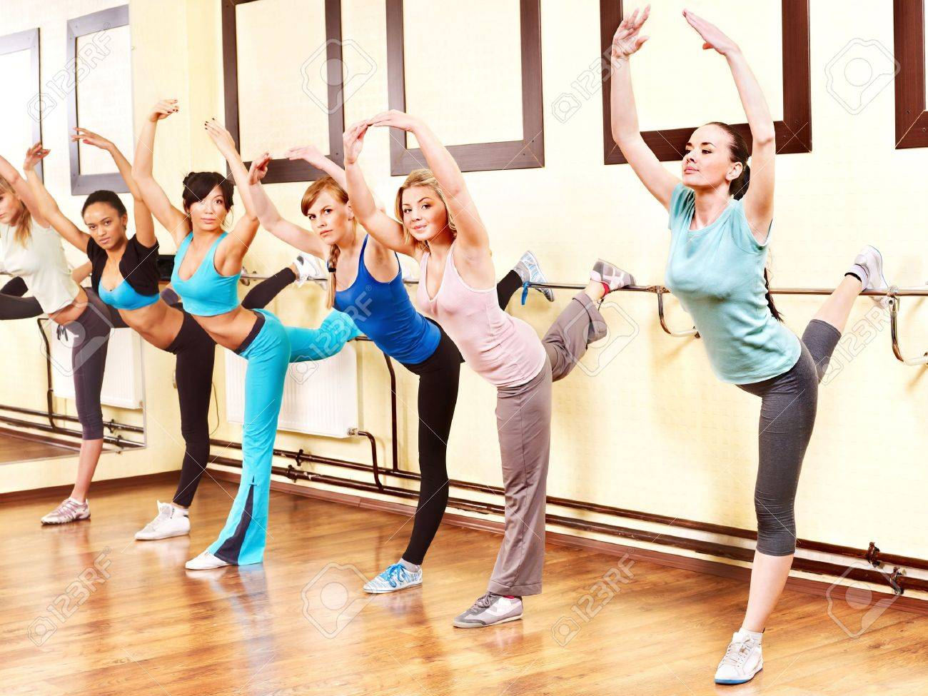 Women group in aerobics class. Stock Photo - 13309264