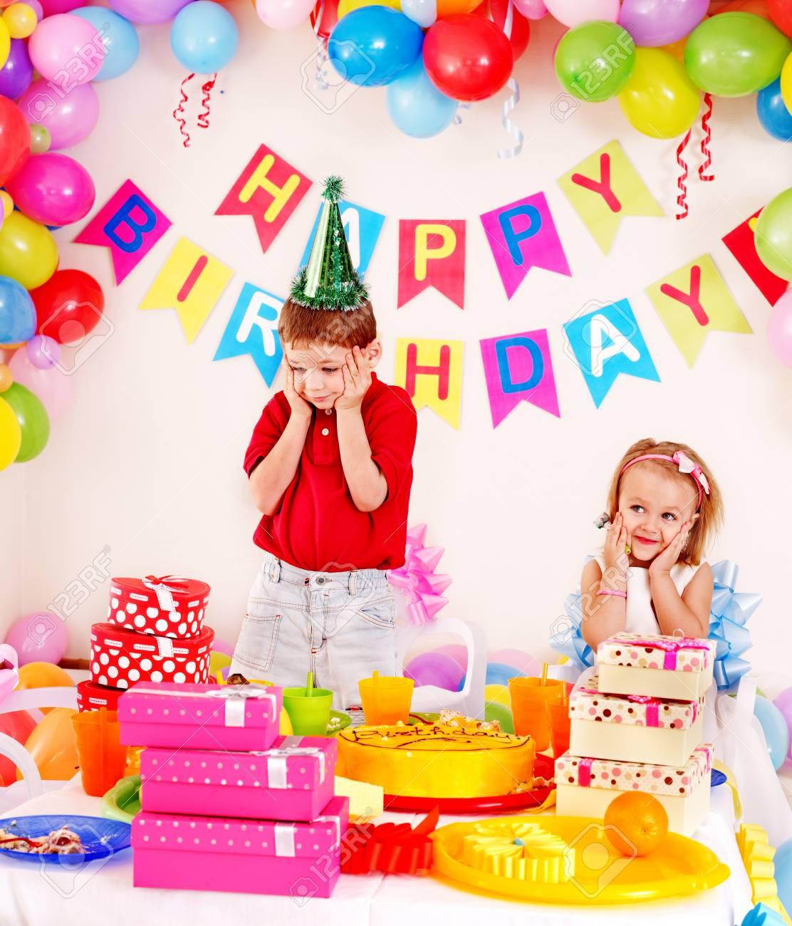 Children happy birthday party . Stock Photo - 17753899
