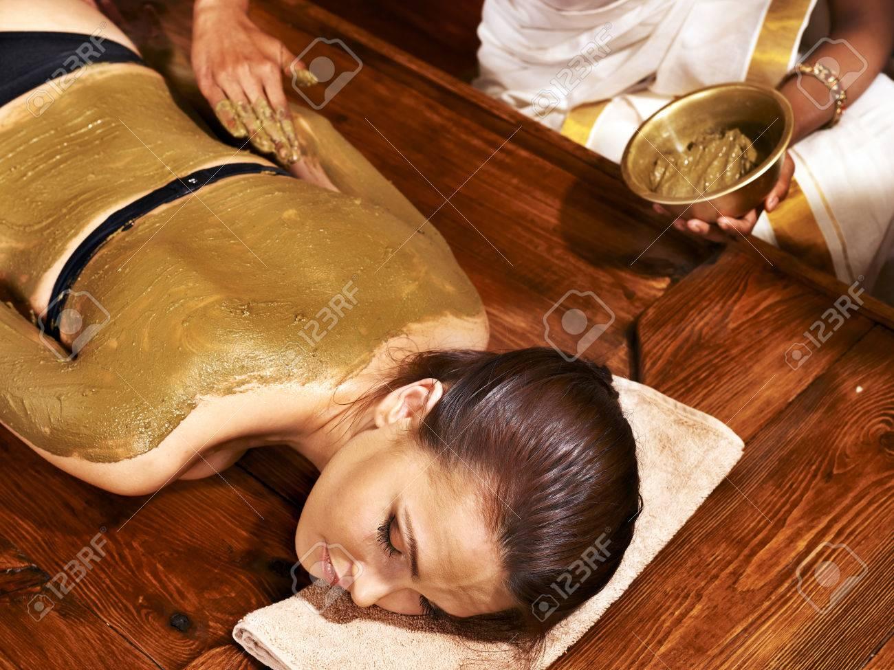 Young woman having body Ayurveda spa massage. - 22673325