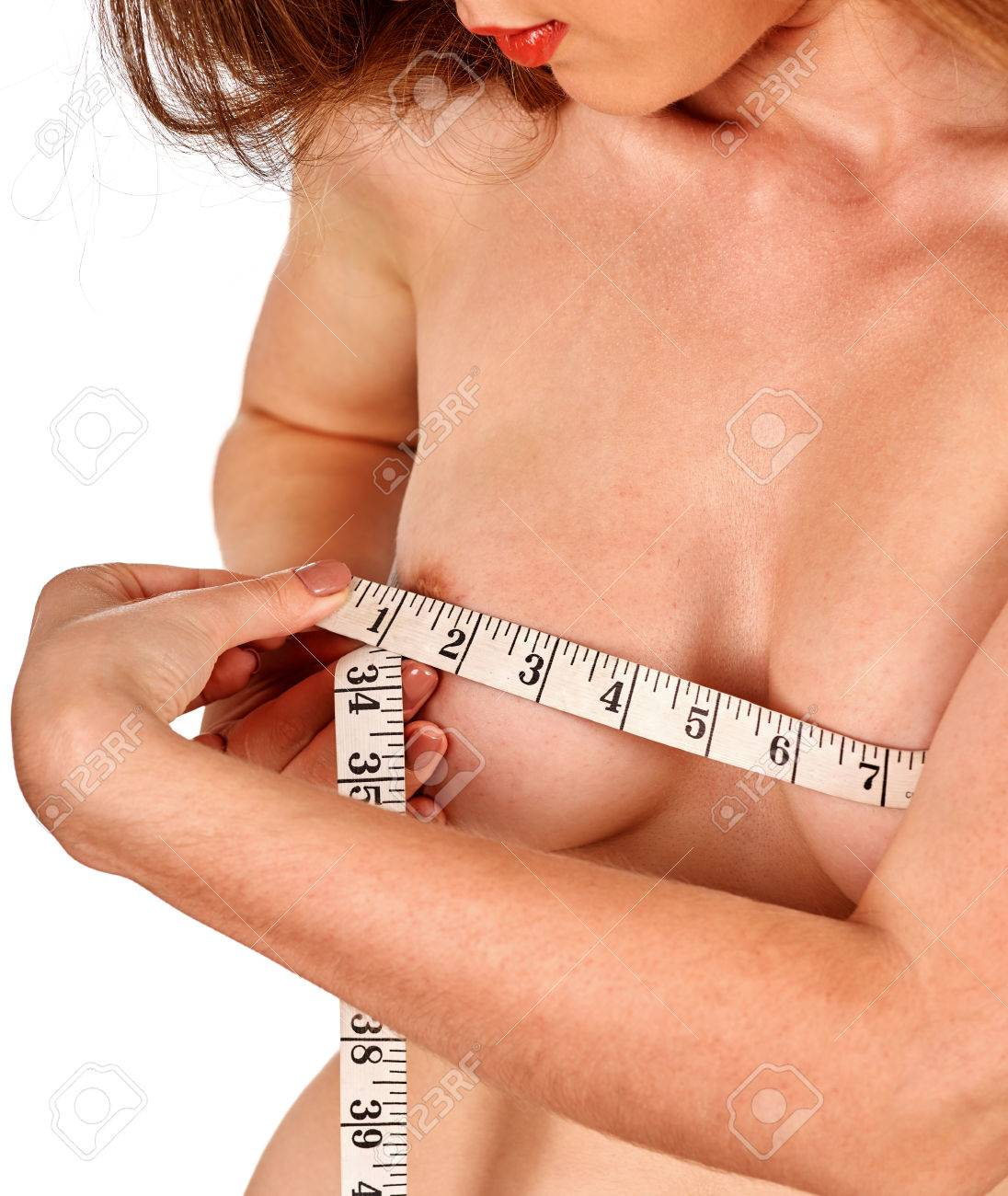 Naked Women Measuring Breasts Sexy