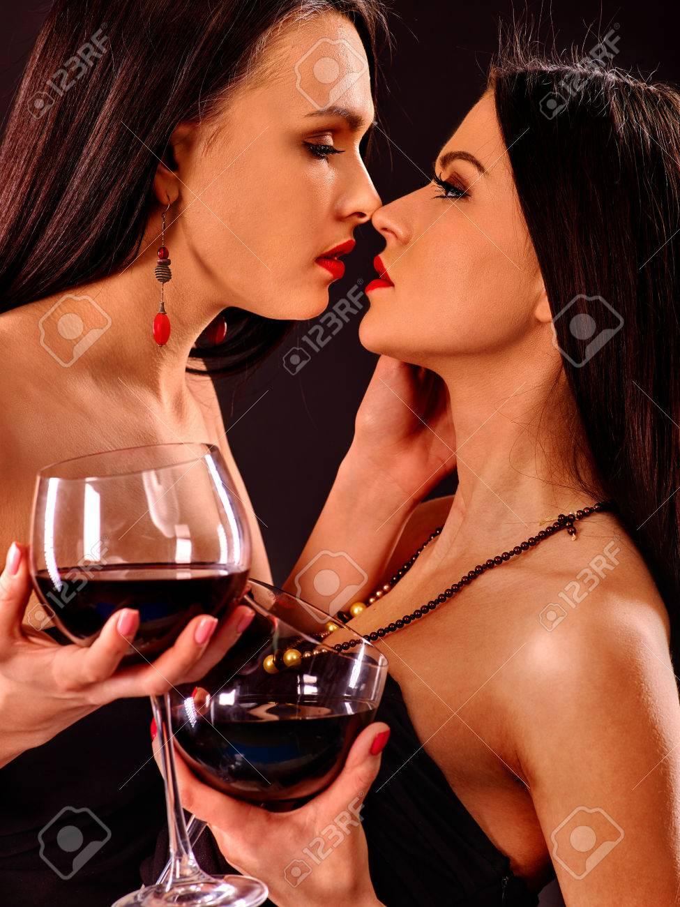 Lesbians Kissing The Shower