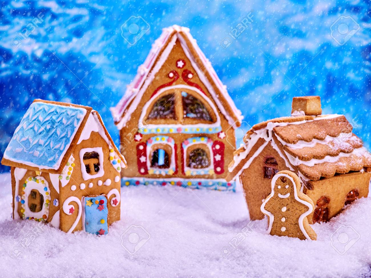 Christmas Tree With Ginger Bread House Cookies And Gingerbread Stock Photo Picture And Royalty Free Image Image 90798475