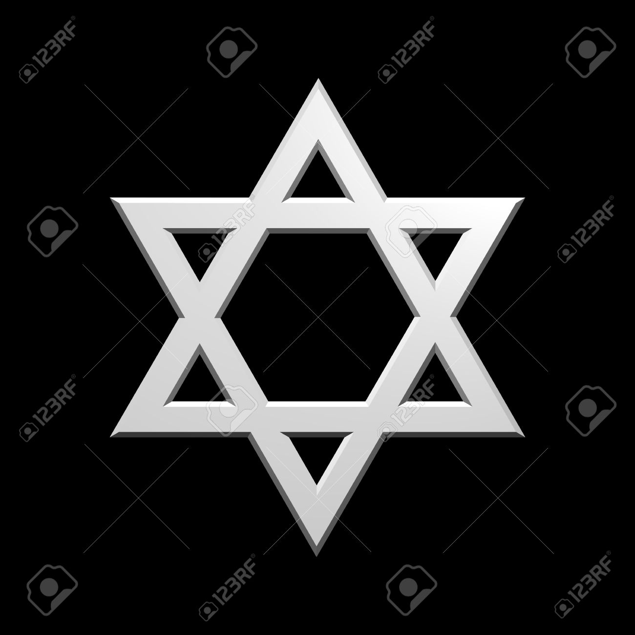 White judaism religious symbol star of david isolated on black white judaism religious symbol star of david isolated on black computer generated 3d photo buycottarizona