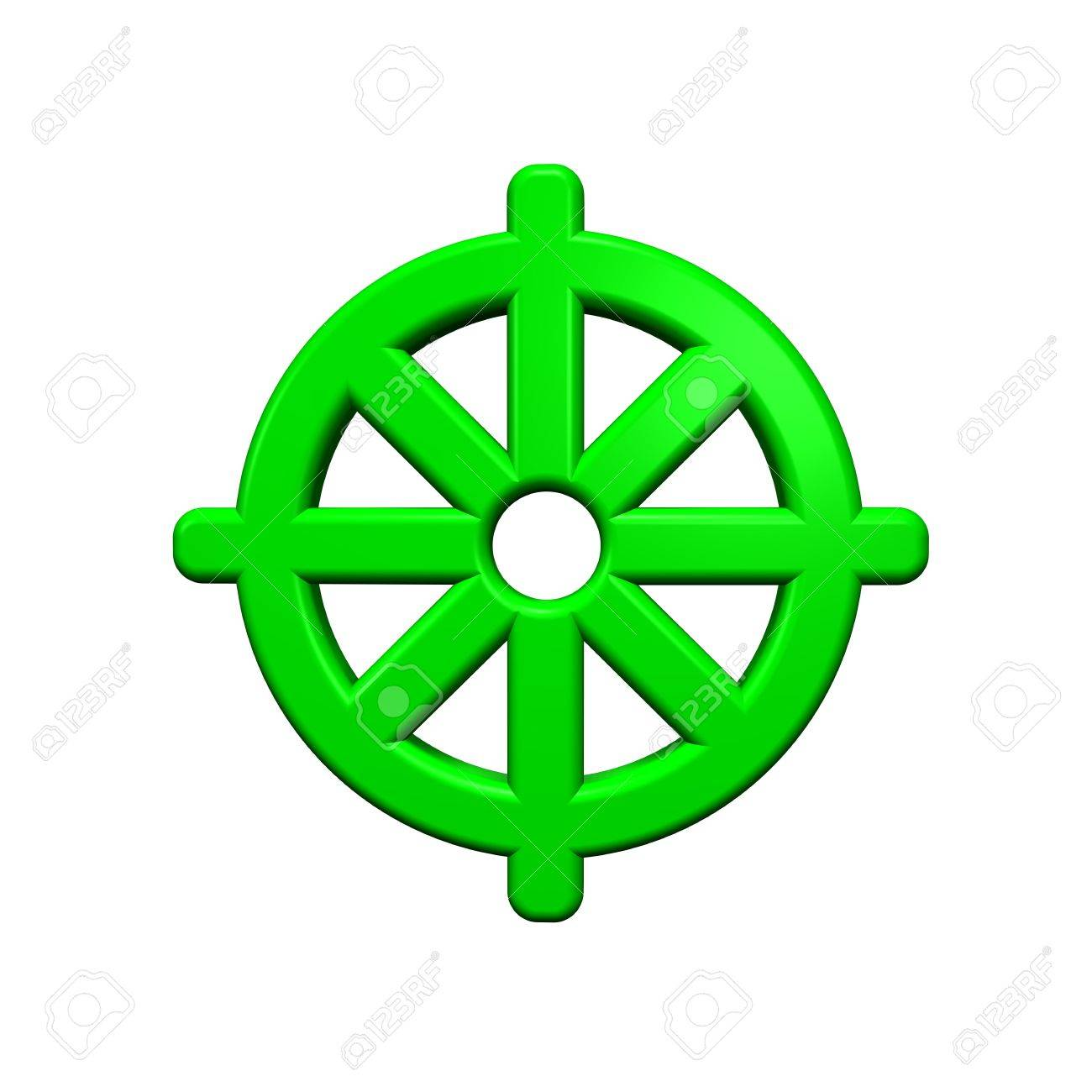 Green Buddhism Symbol. Computer Generated 3D Photo Rendering ...