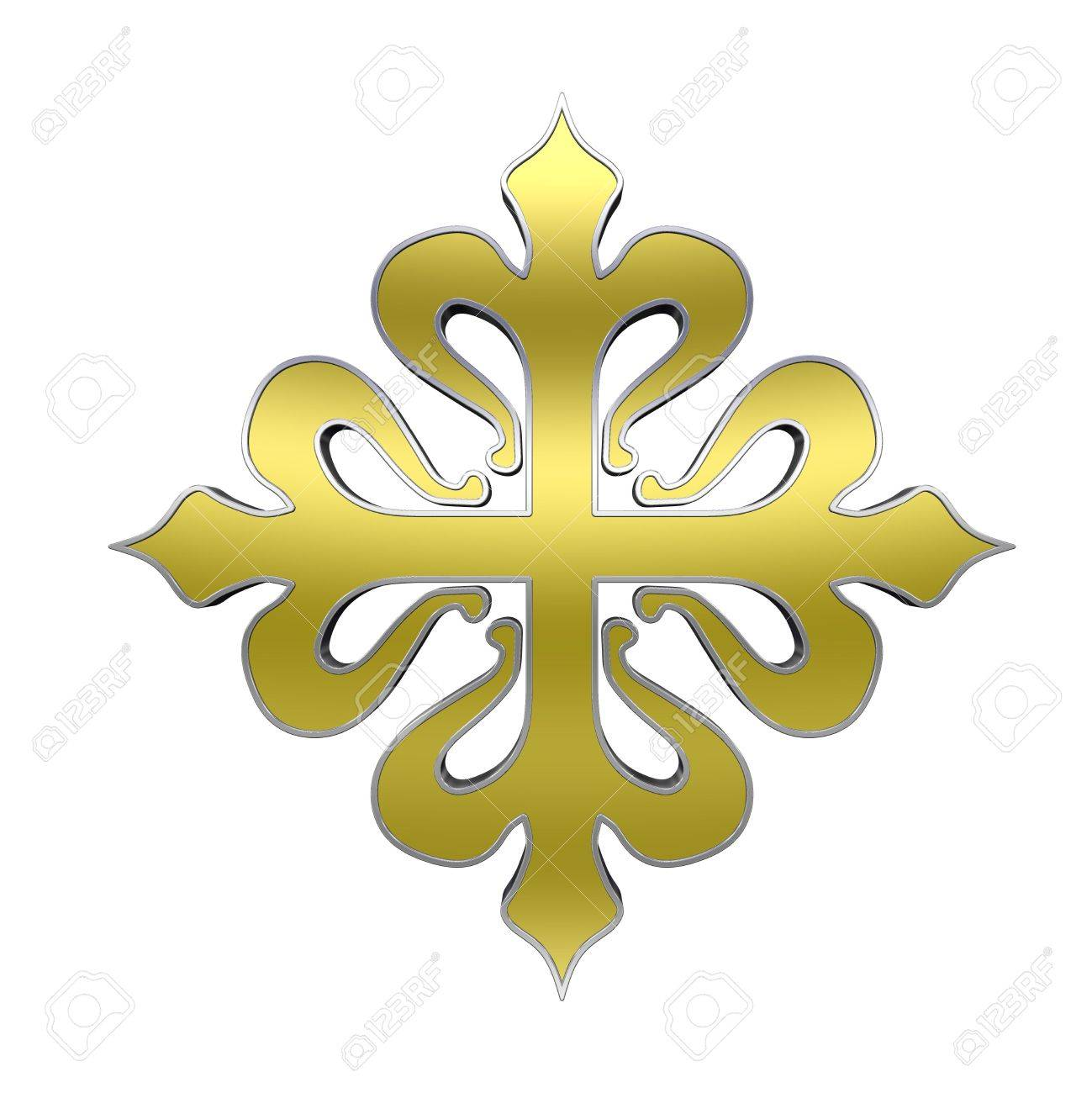 5164247-The-cross-of-Calatrava-Gold-with