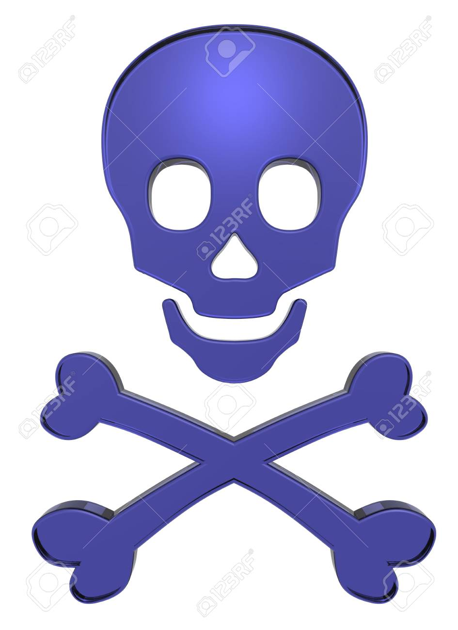 Blue skull and crossbones Stock Photo - 5739278