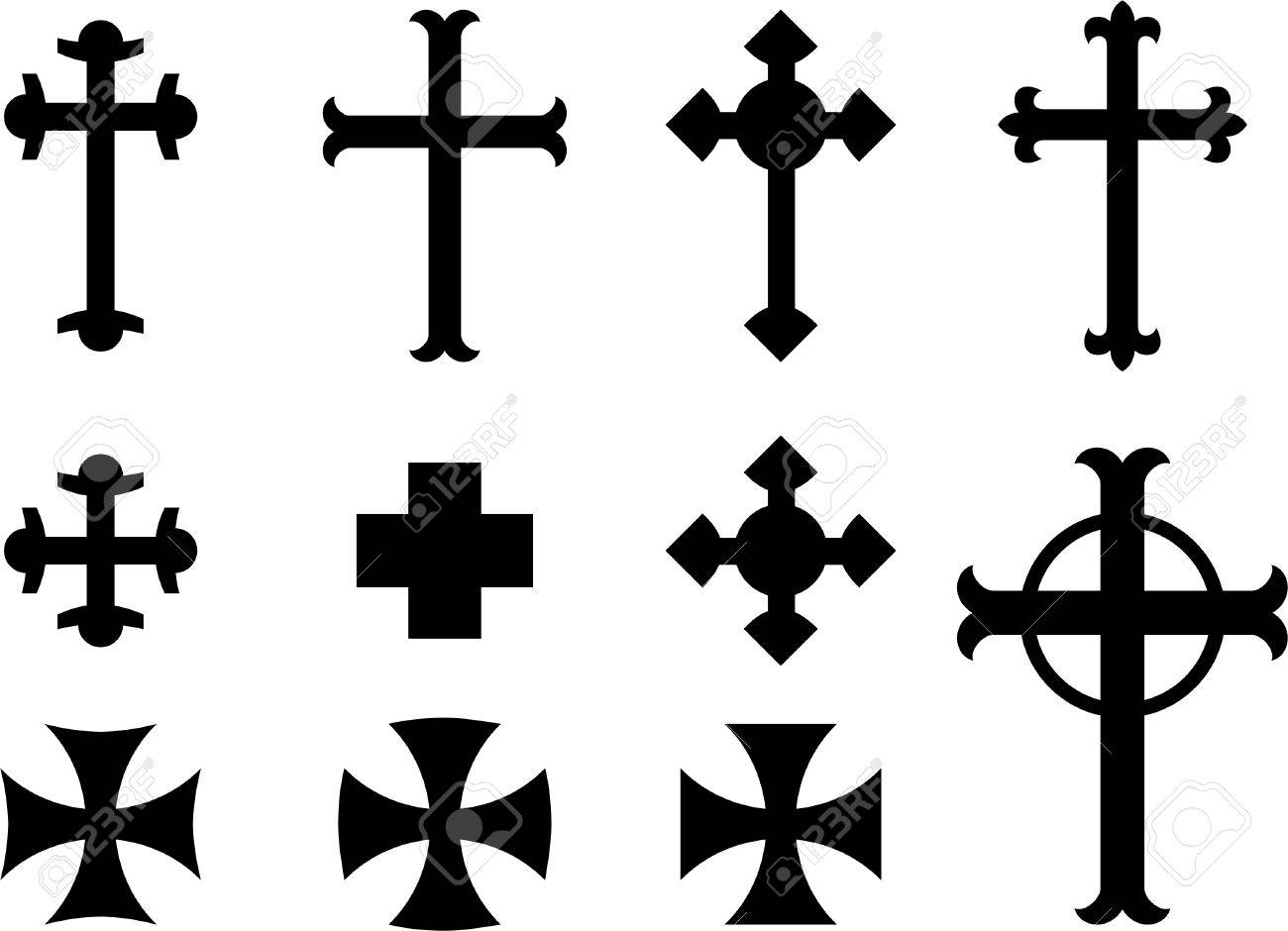 vector crosses religious symbols royalty free cliparts vectors rh 123rf com vector cross product vector crossed flags