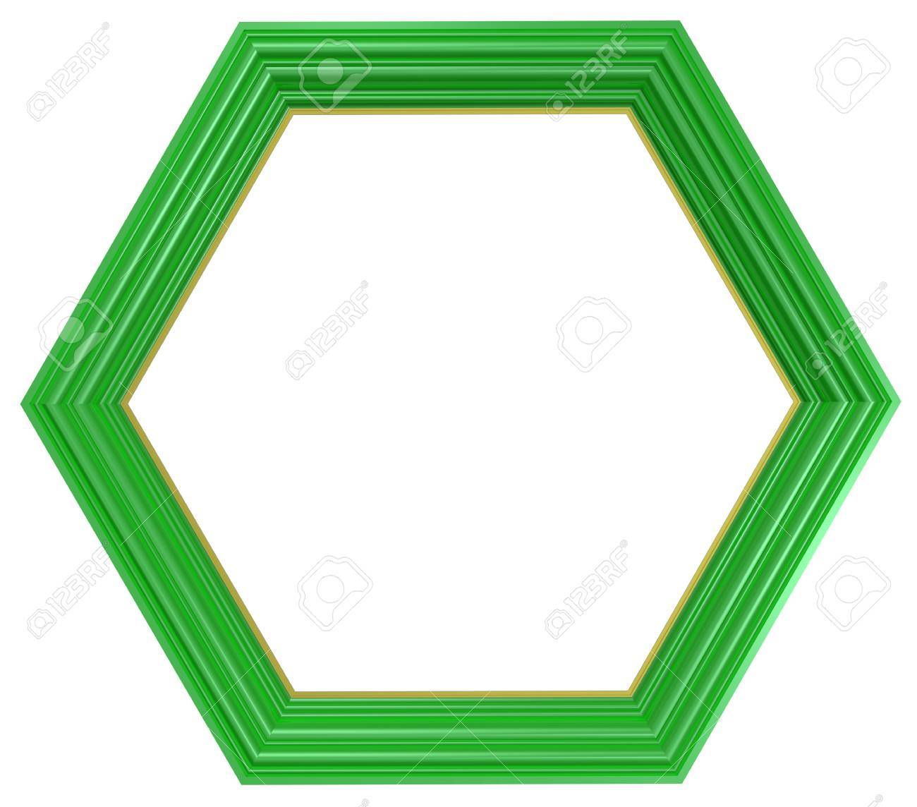 Light green frame isolated on white background. Computer generated 3D photo rendering. Stock Photo - 6528777