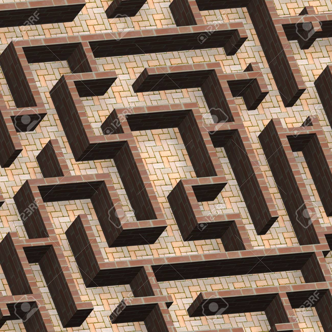 Maze concept. Computer generated 3D photo rendering. Stock Photo - 7999496