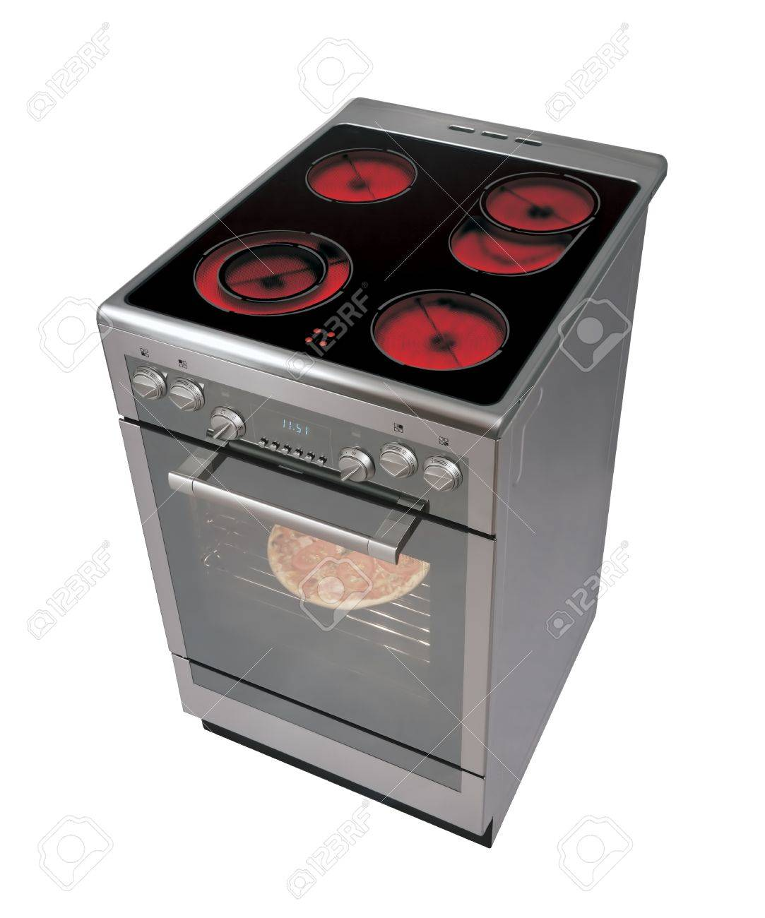 Modern electric cooker isolated on white Stock Photo - 9618770