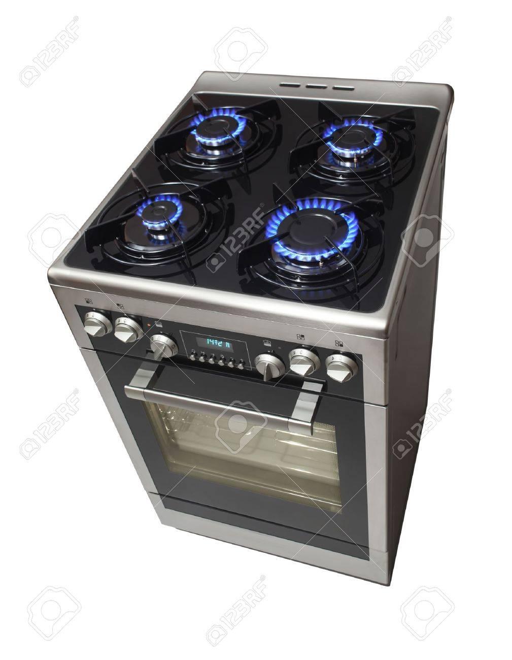 Modern stove isolarted on white Stock Photo - 9618775