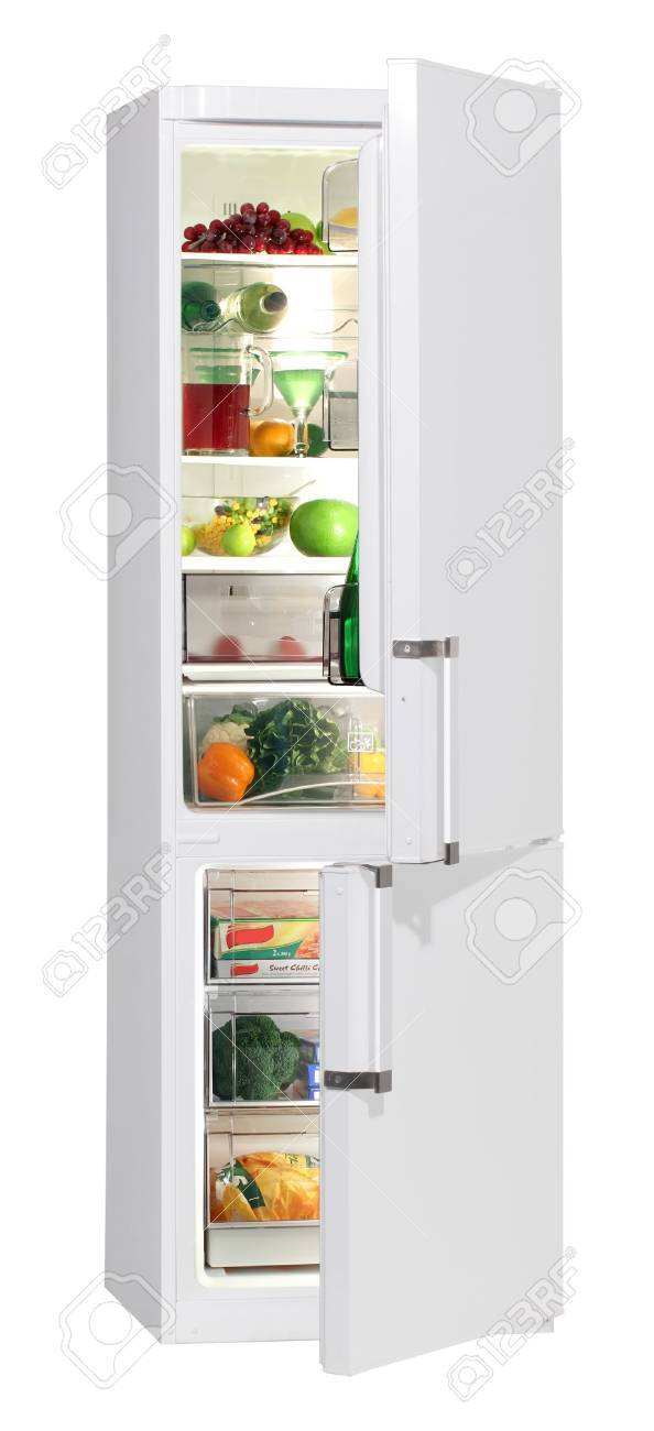 Two door white refrigerator isolated on white Stock Photo - 9618774
