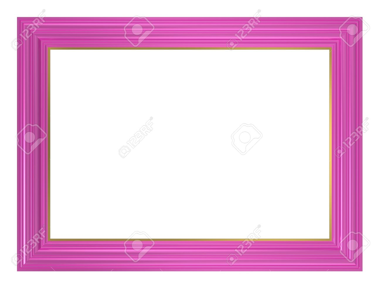 Pink frame isolated on white background. Computer generated 3D photo rendering. Stock Photo - 11238700