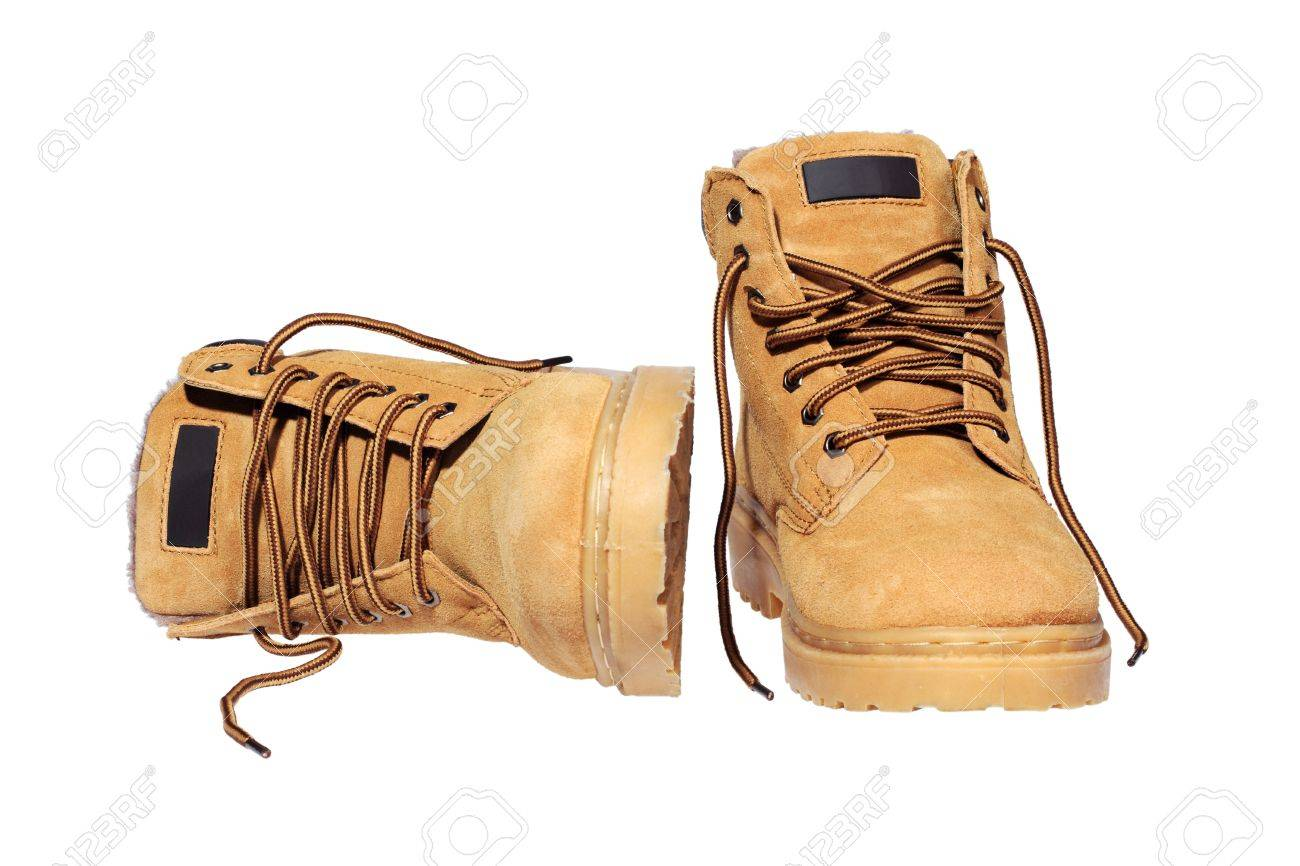 Hiking boots isolated over white Stock Photo - 11777747