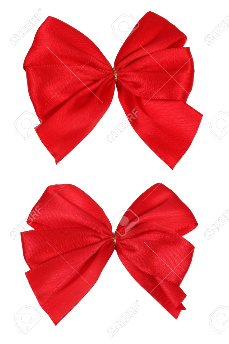 Two red bows Stock Photo - 11963726
