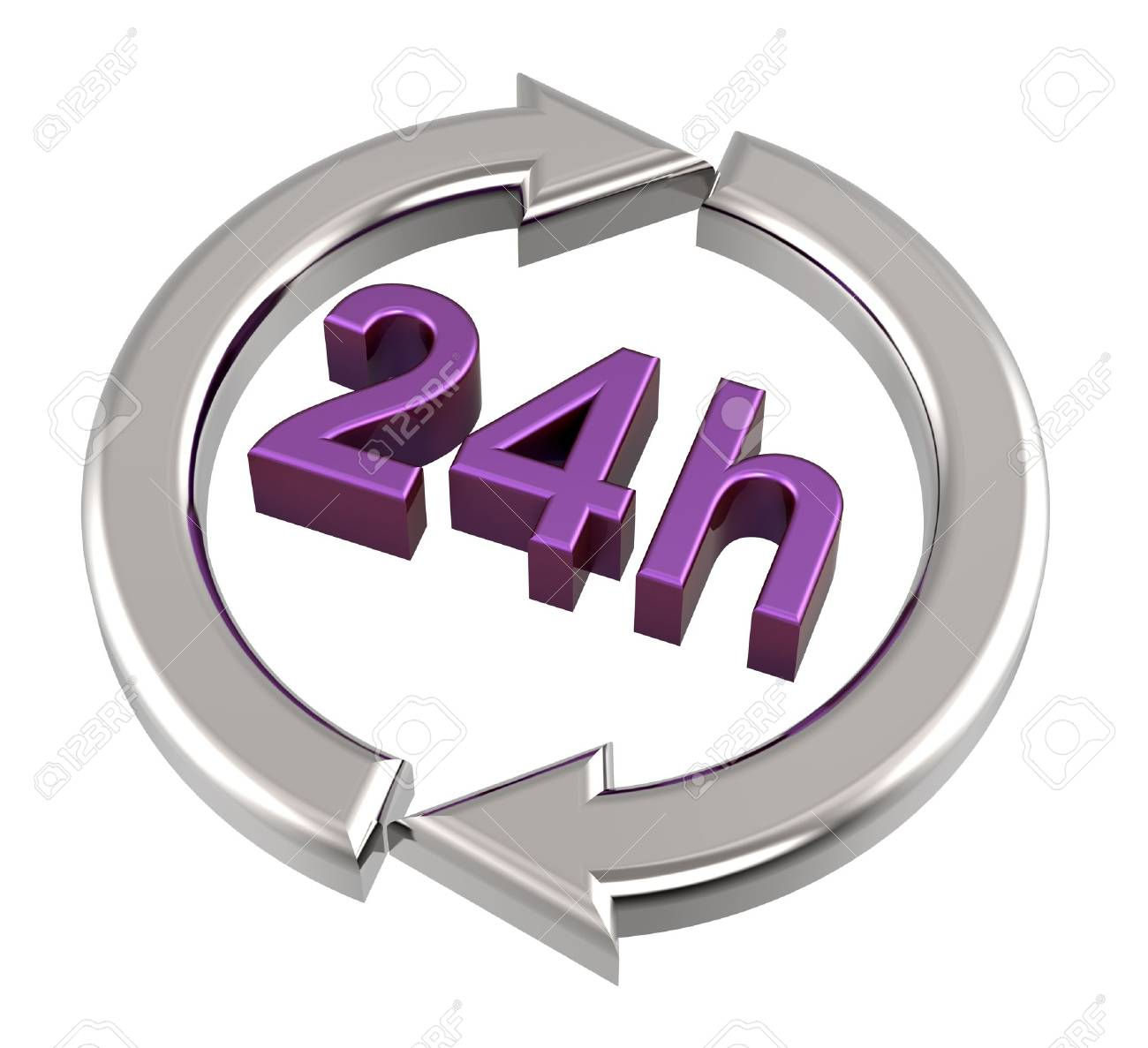 24 hours delivery sign. Computer generated 3D photo rendering. Stock Photo - 12466942