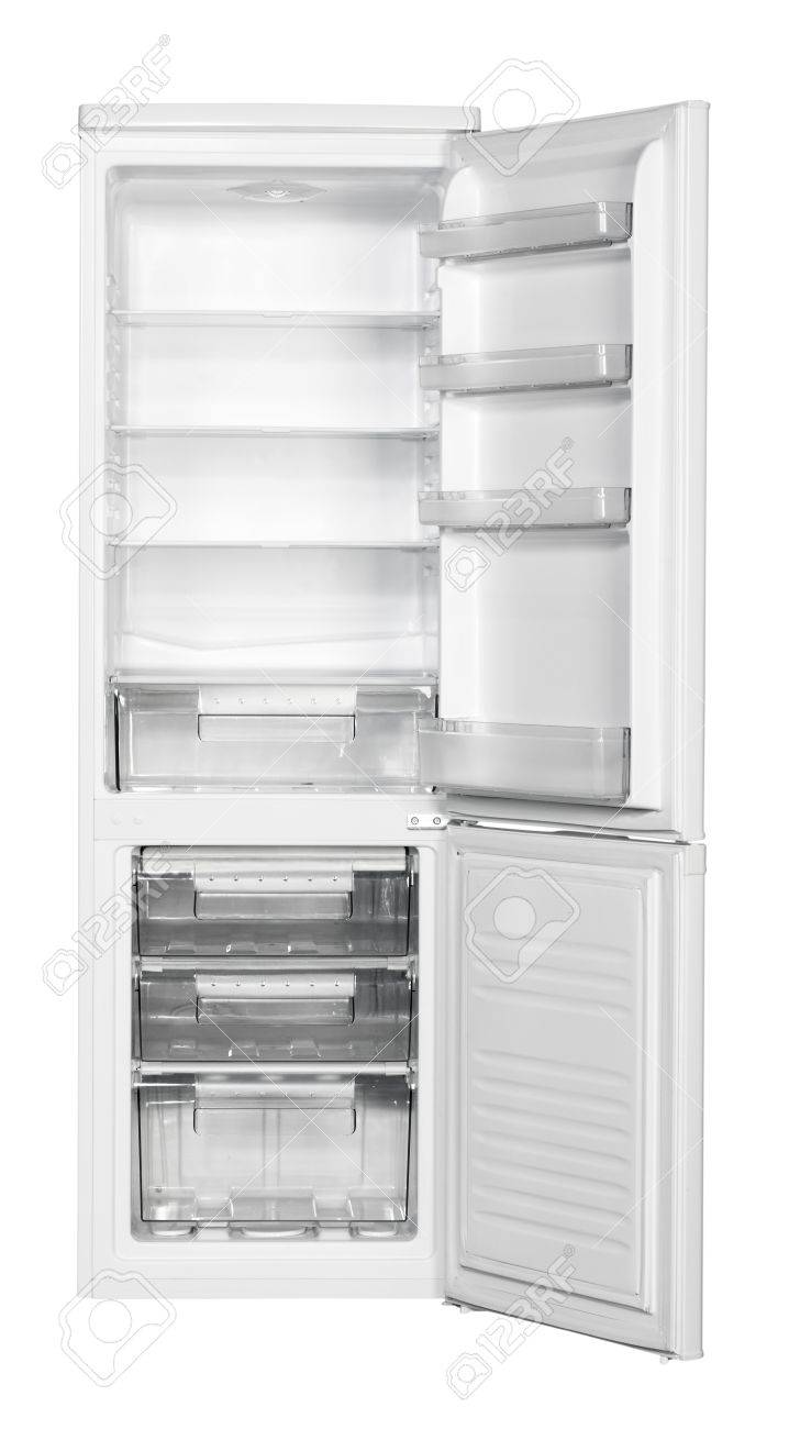 Two door white refrigerator isolated on white background Stock Photo - 21829336
