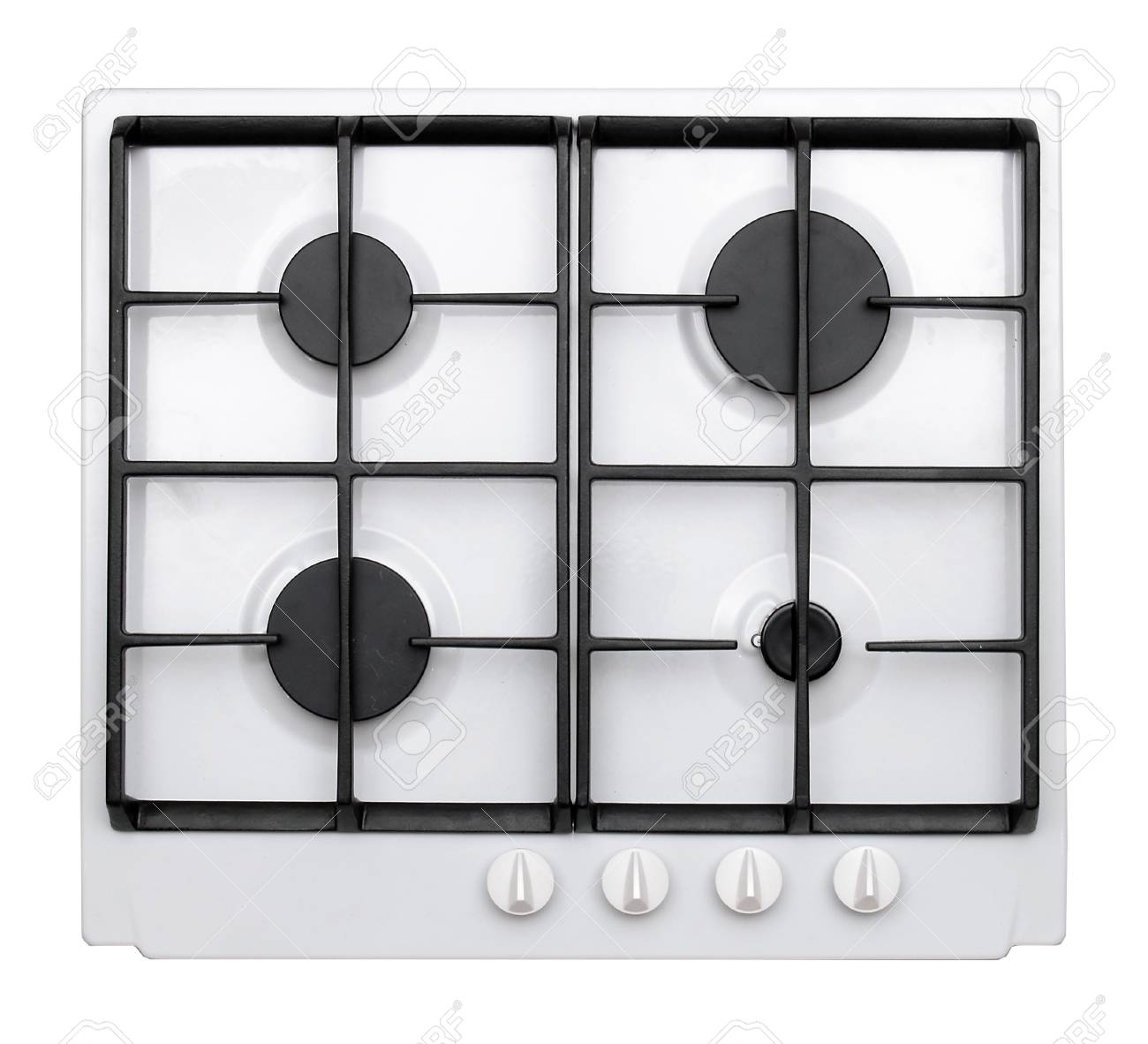 Gas hob isolated on white Stock Photo - 26881489