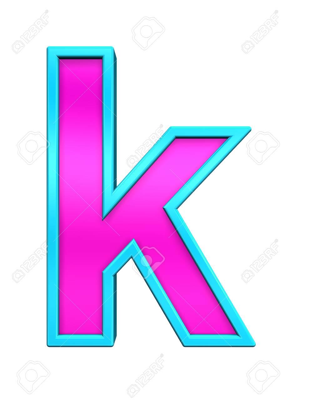 Una Letra Minúscula De Vidrio De Color Rosa Con Azul De Conjuntos De ...