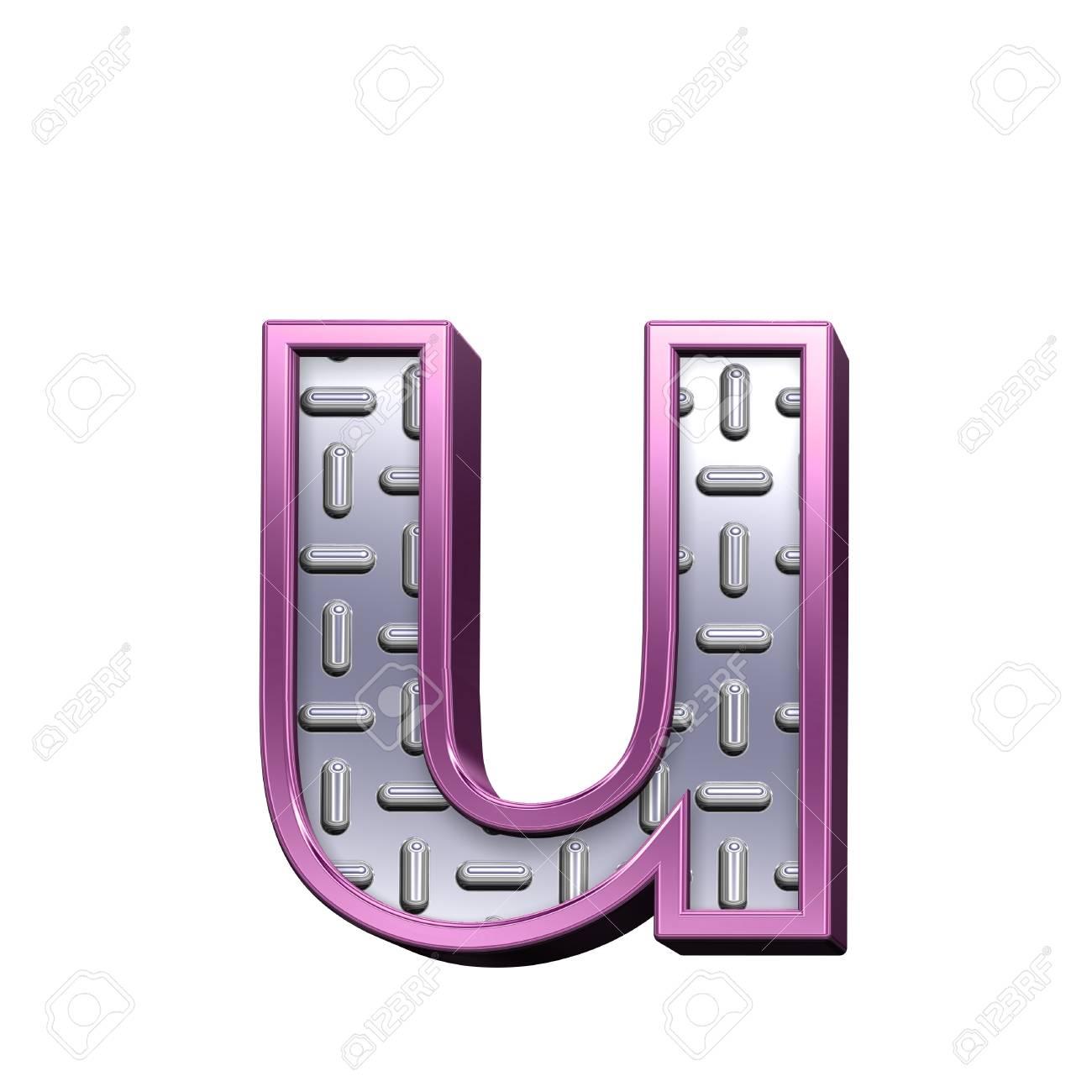 Una Carta De Acero Escultura Placa Con El Sistema Alfabético Marco ...