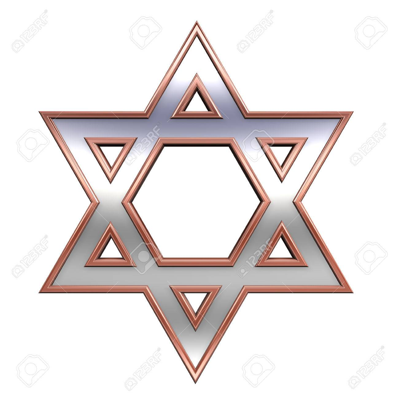 Judaism Religious Symbol Star Of David Isolated On White 3d