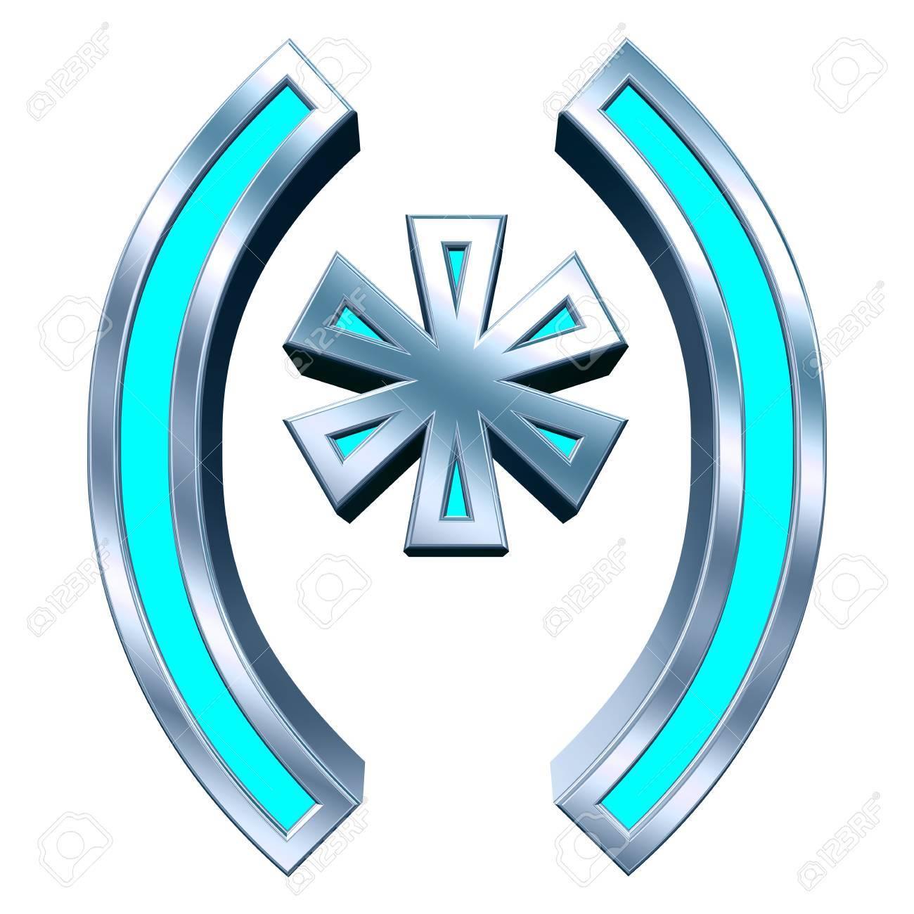 Paréntesis, Asterisco De Color Azul Con El Sistema Alfabético Marco ...