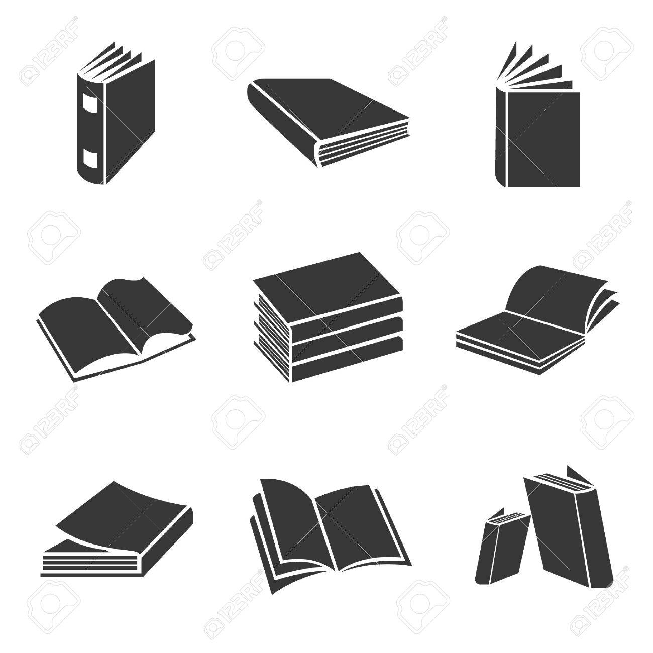 Book Icons Vector Set