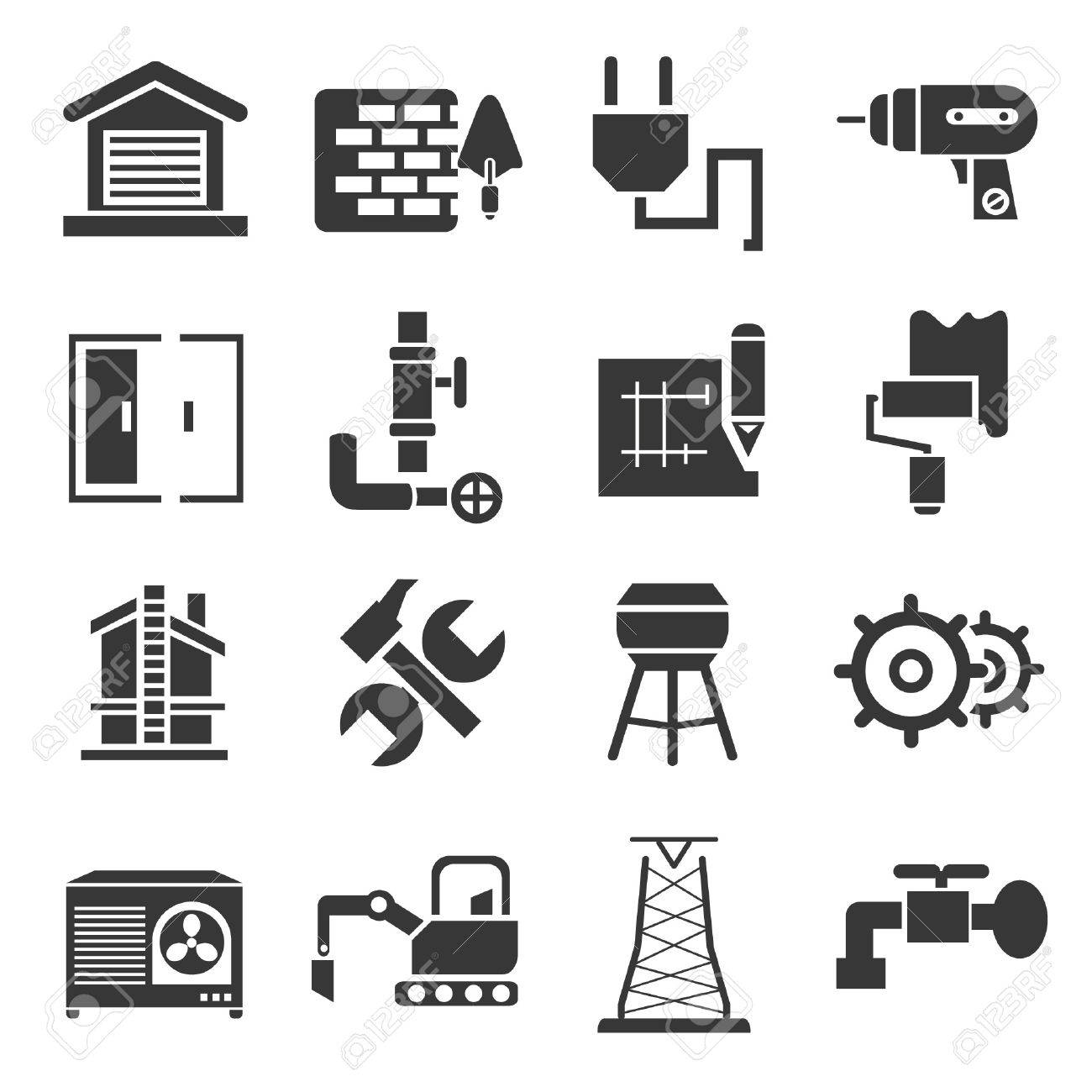 construction icons, icons set Stock Vector - 21506618