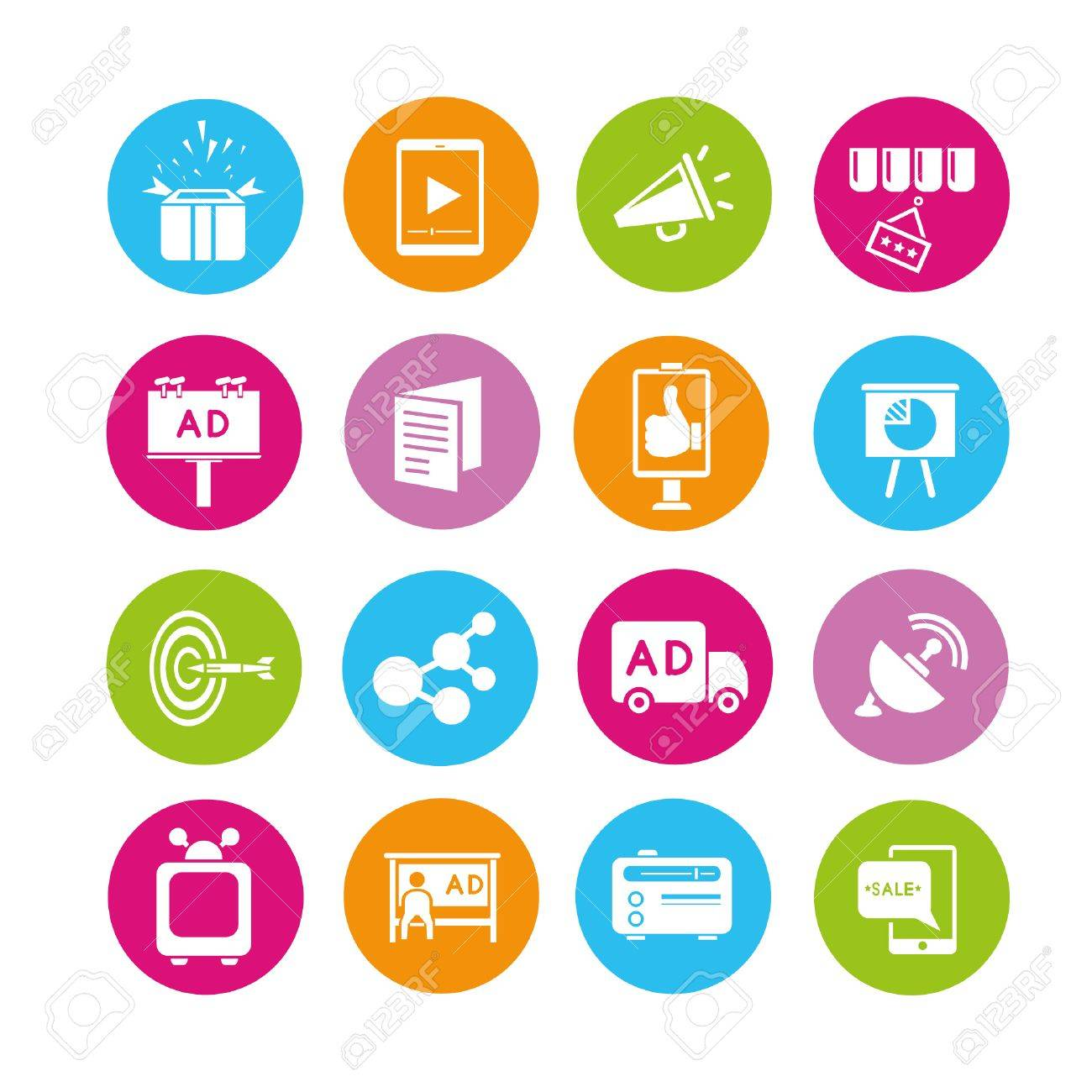 marketing icons set, buttons Stock Vector - 22321880
