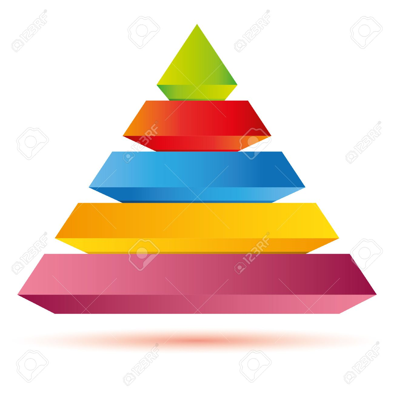 Pyramid Diagram, Business Template Royalty Free Cliparts, Vectors ...