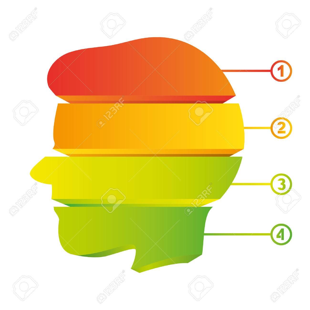colorful head diagram, creative diagram Stock Vector - 22487980