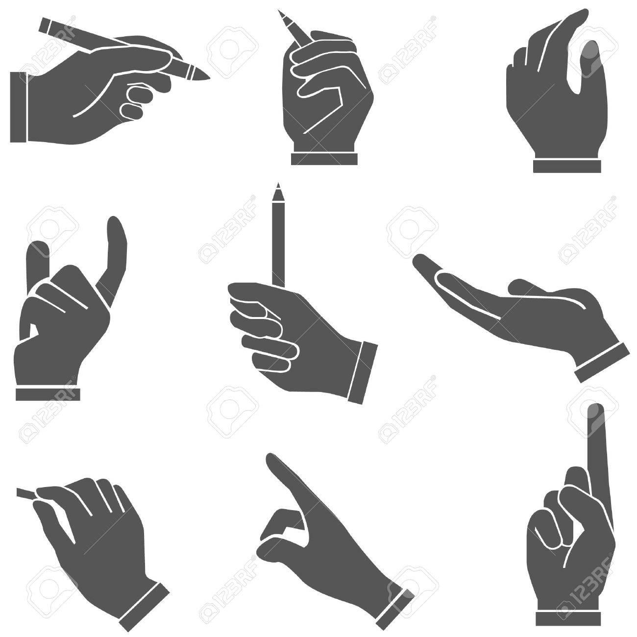 Signature Hand Clipart Signatures Writing Hand Set