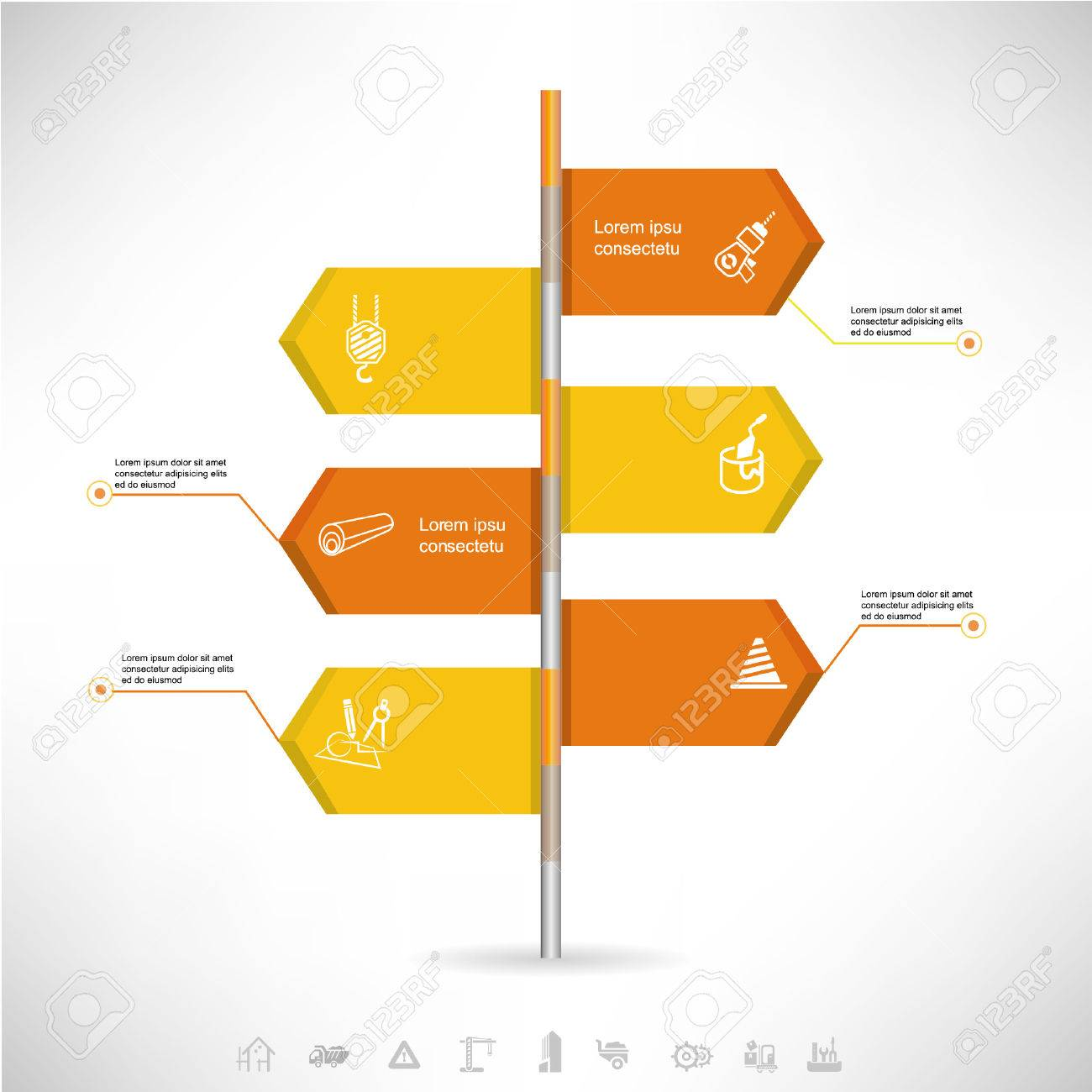 business signage template diagram industrial concept royalty free