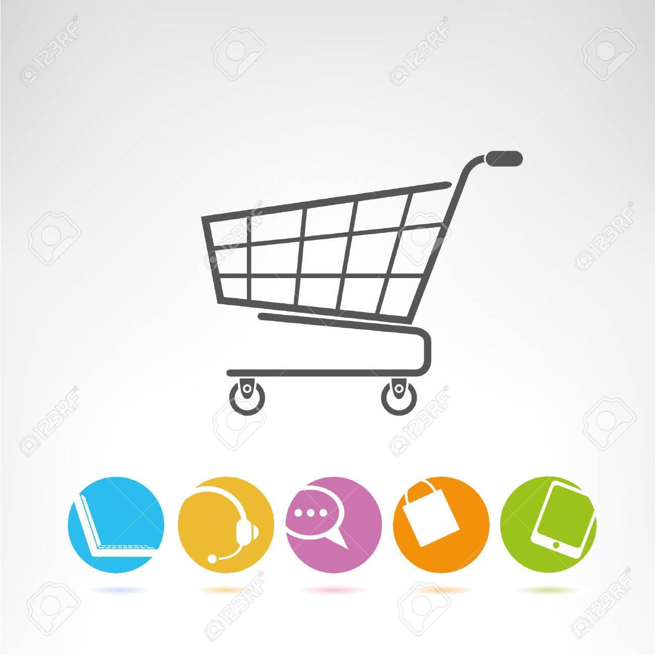 shopping cart, e commerce buttons - 23356134